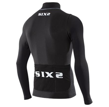 Maillot Sixs Zip Intégral BIKE4 Chromo Carbon Noir 2016 - Maillots vélo Sixs