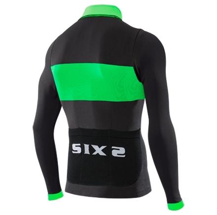 Maillot Sixs Zip Intégral BIKE4 Luxury Carbon Noir/Vert 2016 - Maillots vélo Sixs