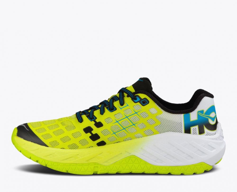 Chaussures Running Hoka One One Clayton Citrus White - Trail/Running Hoka One One