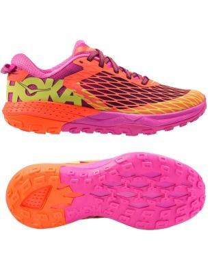 Chaussures Trail Hoka One One Speed Instinct Neon Coral Plum - Trail Hoka One One