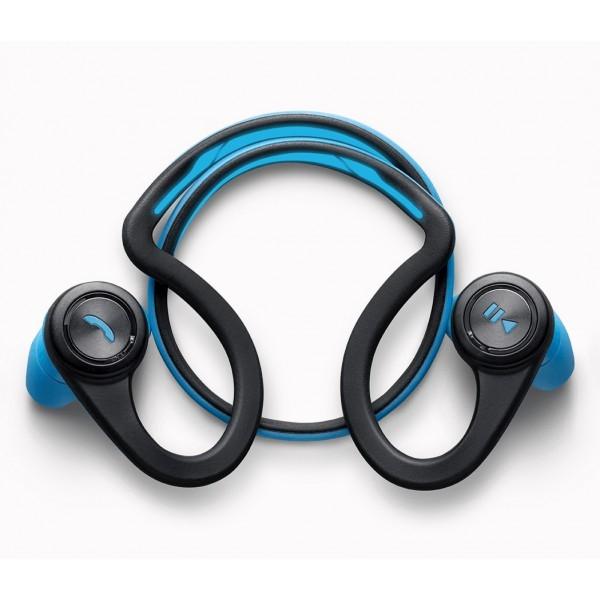 casque audio sans fil plantronics backbeat fit bleu. Black Bedroom Furniture Sets. Home Design Ideas
