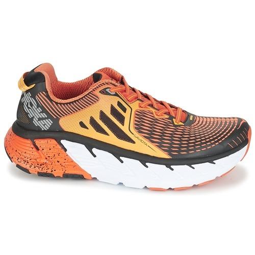 Chaussures Running Hoka One One Gaviota Red Orange / Gold Fusion - Running Hoka One One