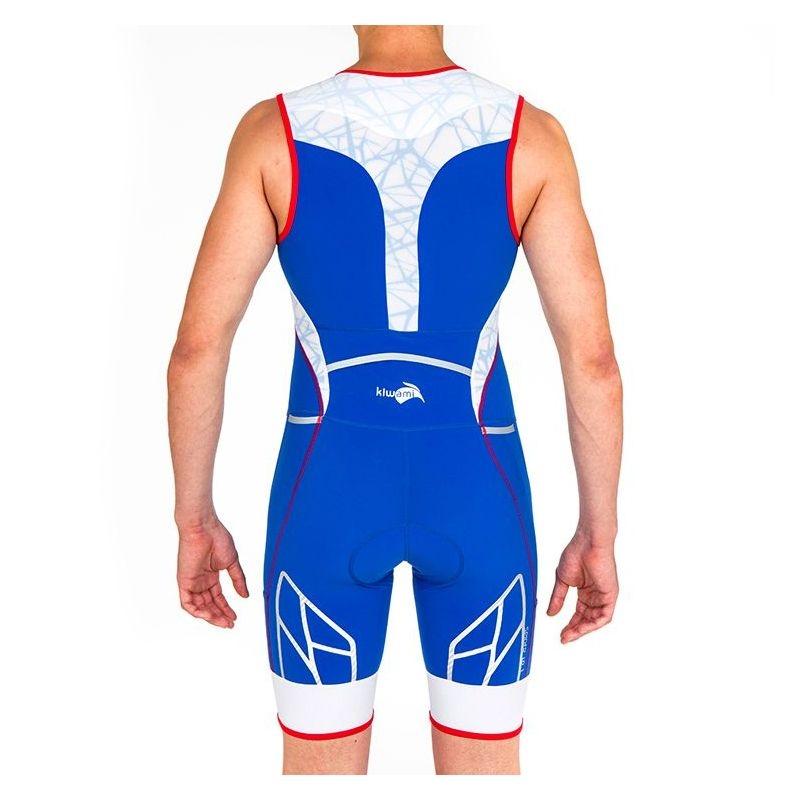 Combinaison Trifonction Kiwami Spider LD1 Bleu/Rouge/Blanc - Triathlon Kiwami
