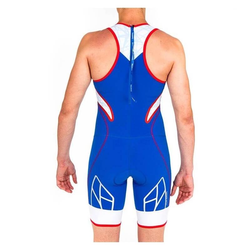 Combinaison Trifonction Kiwami Spider WS1 Bleu/Rouge/Blanc - Triathlon Kiwami