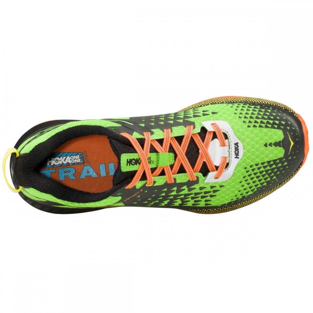 Chaussures Trail Hoka Speed Instinct 2 Vert Orange - Trail Hoka One One