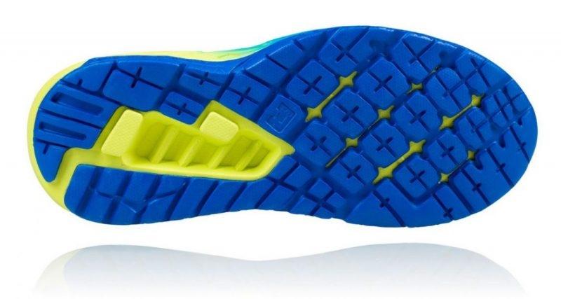 Chaussures Running Hoka Clayton 2 Citrus Bleu - Running Hoka One One